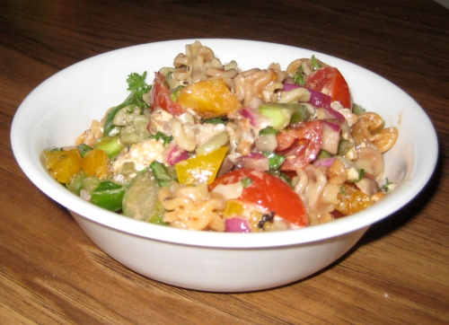 Finished Pasta Salad