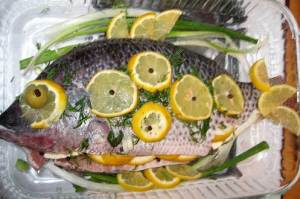 Herb Stuffed Tilapia